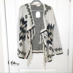 ALTER'D STATE • Tribal Fringe Open Cardigan Sz M